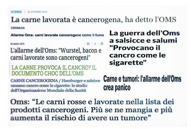 carne e tumori titoli