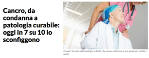 cancro vittoria articolo LaRepubblica