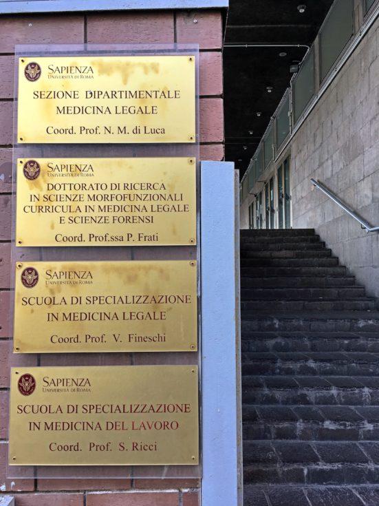 Docenza alla Sapienza a Roma